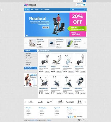 Интернет магазин на Joomla 2.5 - шаблон Leo Sport