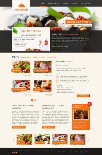 Шаблон ресторана JM Italian Restaurant Joomla 2.5 + PSD