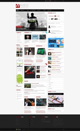 Шаблон joomla новостной портал