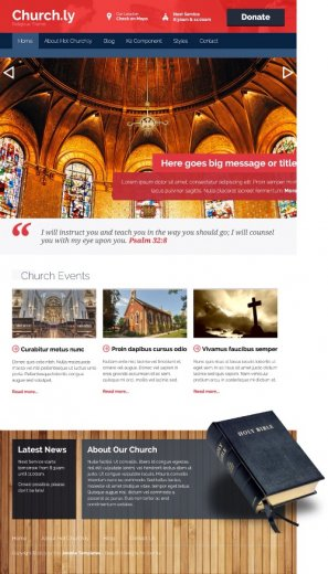 Шаблон HOT Churchly (Joomla 2.5 и 3.0)