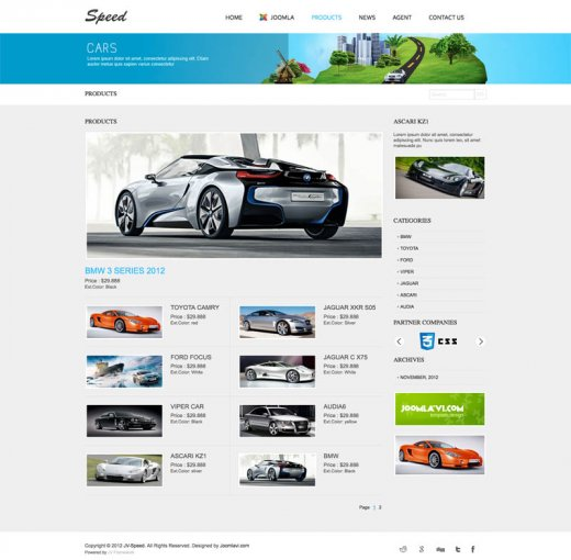 Шаблон JV Speed Joomla 2.5