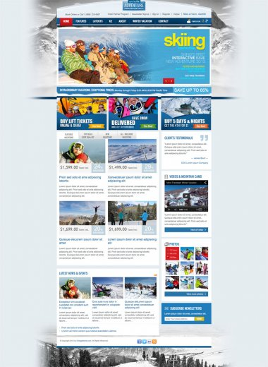 Спорт тема OT Winter - Joomla 2.5