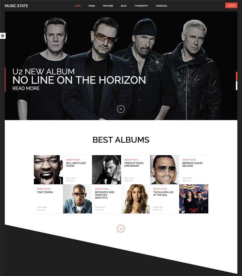 Шаблон для музыкального joomla сайта