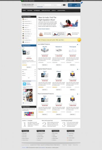 Интернет магазин компьютеров IT TheShop Joomla 1.7, 2.5