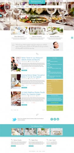 Шаблон IT TheRestaurant 2 Joomla 2.5 - 3.2